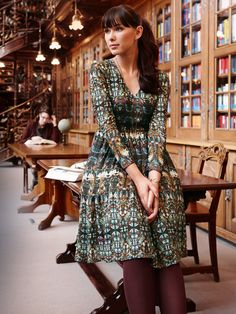 Long Sleeve Dress with Gathers 11/2013
