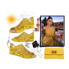 A fashion look created by Nura-Fashion featuring Leather clutch, OFRA Cosmetics Eyebrow Gel - Charcoal, Women's Rouge Volupté Shine, Authentic Fabi Leather Italian Designer Flats New Sizes Yellow Italian Shoes, Designer Shoes, Art Decor, Women's Shoes, Creative, Clothes, Style, Fashion, Outfits
