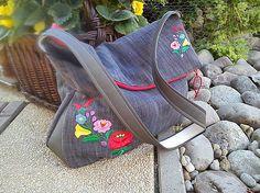 Richter / Vyšívaná kabela Handmade Bags, Flip Flops, Wedges, Sandals, Men, Shoes, Fashion, Moda, Handmade Handbags