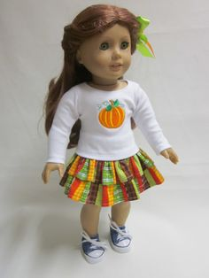 Fall Outfit   18 inch American Girl Doll Clothes by IndustriousDog, $13.00