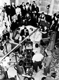 On the set of Bluebeard's Eighth Wife (1938) Seated, Gary Cooper and Claudette Colbert.