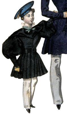 8. Frock coat with gigot sleeves, pantaloons