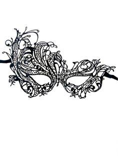 So Pretty! Black Lace Phoenix Crochet Lace Mask | Choies