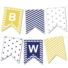 Chevron and Striped Bunting Banner