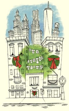 {Christmas party invite | Ann Street Studio.}