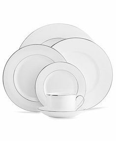 Vera Wang Wedgwood Dinnerware, Blanc sur Blanc Collection - Fine China - Dining & Entertaining - Macy's