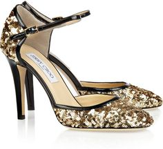 JIMMY CHOO ENGLAND   Tessa Sequined Leather Pumps