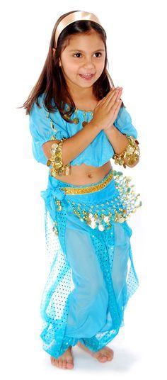 6-Piece Girls Arabian Princess Genie Costume in Jasmine Blue u003c3  sc 1 st  Pinterest & Girls Mystical Genie Costume - Belly Dancer Costumes | HoLiDaY ...