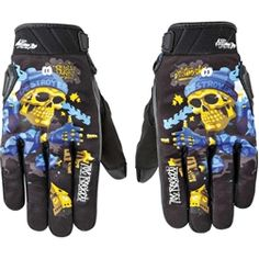 Milwaukee Mens Motorcycle Perforated Flex Knuckle blk Touch screen Finger Leather Gloves 3XL Regular