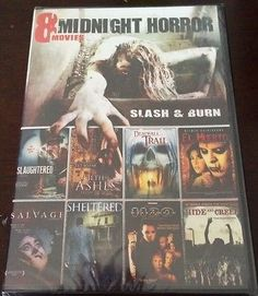 nice Midnight Horror 8 Movie Pack - Slash & Burn - 2 Disc DVD Set - Brand New - For Sale