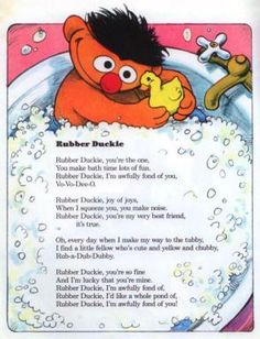 Rubber Duckie Words and Music by Jeffrey Moss Illustrated by Normand Chartier From: The Songs of Sesame Street in Poems and Pictures To view...