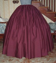long extra full BURGUNDY WINE SKIRT Pirate Witch Renaissance Peasant Pioneer Steampunk Civil War Gothic one size fits all. $37.50, via Etsy.