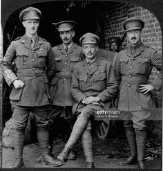 Left to right are, Lieutenant Colonel Gordon, Captain Romilly, Captain Weir, and Lieutenant Walter Lorrain Brodie.