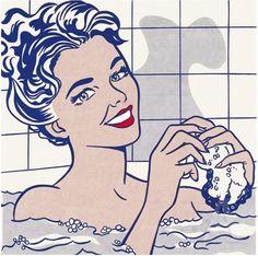 Woman in Bath 1963 Roy Lichtenstein, pop art Roy Lichtenstein Pop Art, Andy Warhol, Comic Art, Comic Kunst, Comic Books, Jasper Johns, Arte Pop, Pop Art Vintage, Modern Art