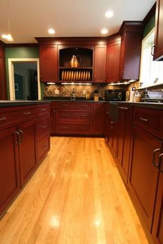 1000 images about kitchens on pinterest cherry cabinets - Poplar wood kitchen cabinets ...