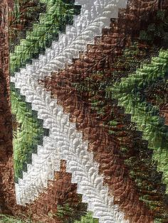 Twisted Bargello - quilting detail