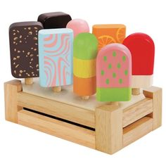 Wooden Toys Educational Toy Childrens Toys Children's Toy Shop - I'm Toy Wooden Ice Cream Bar Set