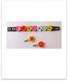 Felt bracelet and hairpin - https://www.facebook.com/photo.php?fbid=510530755627966=a.313069285374115.96429.252853084729069=3