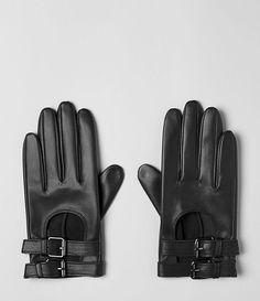 Womens Vivienne Gloves (Black) | ALLSAINTS.com