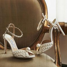 Jimmy Choo (@jimmychoo) • Instagram photos and videos Bridal Sandals, Fashion Mag, Wedding Heels, Ankle Strap Heels, Shoes Heels, Party Shoes, Beautiful Shoes, Wedding Accessories, Jimmy Choo