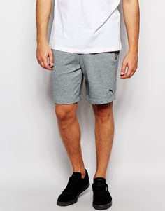 "Shorts by Puma Loop-back sweat Drawstring waistband Embroidered logo Side pockets Straight fit - cut with a straight leg Machine wash 70% Cotton, 30% Polyester Our model wears a size Medium and is 185.5cm/6'1"" tall"