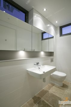 Gallery - Contemporary Bathroom 3. like this ledge under wall of mirrors.
