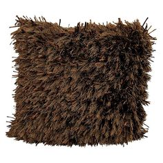 Kathy Ireland Medlay Soft Shag Throw Pillow, Brown