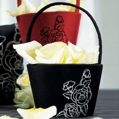 Silhouettes in Bloom Flower Girl Basket by FavorIdeas