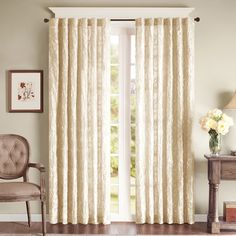 Madison Park Paley Embroidered Curtain Panel - Overstock™ Shopping - Great Deals on Madison Park Curtains