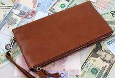 men long wallet purse clutch Handmade men leather Vintage brown zip wallet men long wallet purse clutch