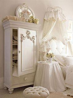 white elegant and luxury teen girl room