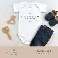 Mockup kids t shirt Trendy Baby Boy Clothes, Baby Boy Outfits, Kids Outfits, Baby Shirts, T Shirts, Kids Shirts, White Bodysuit, Shirt Mockup, Black Pants