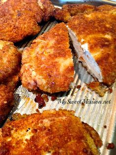 Marinated Crispy Panko Chicken Breasts by MySweetMission.net   Skip the Italian dressing marinade