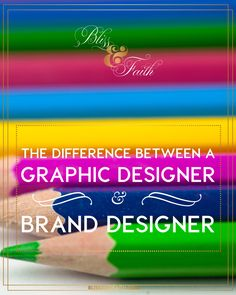Many may not understand the roles of a Brand Designer and a Graphic Designer, and that there is a huge difference in the two. Today I'm breaking the roles down, in hopes that it will provide those in need of branding services with a little more insight into what these two individuals do and what they can do for you in terms of branding.