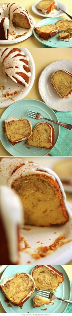 How To Cinnamon Roll Pound Cake