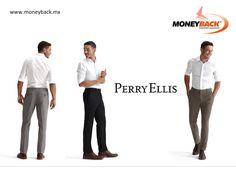 Perry Ellis cuenta con gran legado en la confección de estupendas prendas de vestir para el armario de hombres, con todo tipo de trajes, camisas de vestir y pantalones. En México Perry Ellis te da un reembolso de impuestos con Moneyback! #viajeamexico