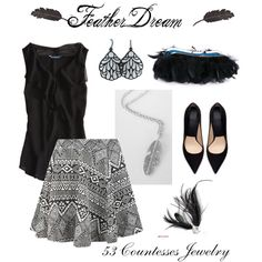 """""""Feather Dream"""" by countess-flower on Polyvore  www.53countesses.blogspot.com"""