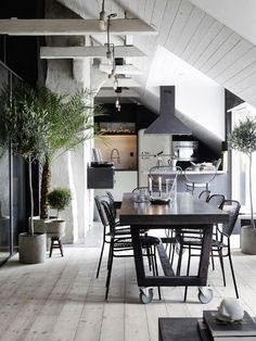 Love the idea of a table on wheels that feels architectural and modern. Perhaps this could be placed on the end of a permanent island?