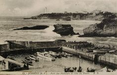 Biarritz Fishing Port France  Unused Vintage by ChicEtChoc on Etsy, $5.50