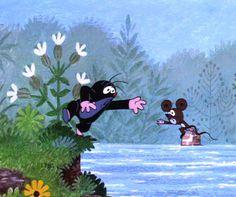 (2015-02) Muldvarpen rækker ud efter musen ude i floden