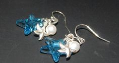 Blue Starfish Earrings by LisasOriginals on Etsy