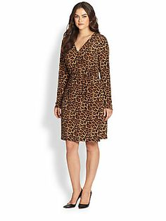 MICHAEL MICHAEL KORS, Salon Z Leopard-Print Wrap Dress