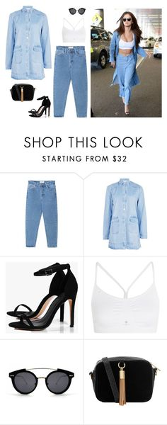 """""""the look for less"""" by anotherfashionaddict ❤ liked on Polyvore featuring WithChic, Boohoo, L'Etoile Sport, Spitfire, Accessorize, denim, Sexy, jeans and casualoutfit"""