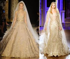 vestidos de noiva de alexander mqueen | Vestido de noiva com dourado é aposta para 2013