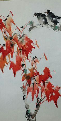 呂祐章 Abstract Watercolor, Watercolor And Ink, Fabric Painting, Watercolour Painting, Chinese Brush, China Art, Chinese Painting, Beret, Japanese Art