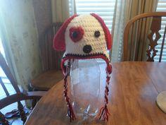 Crocheted Valentine's day puppy