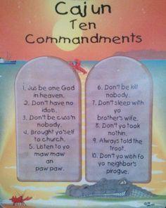 Cajun Country Religion | Hillbilly Ten Commandments