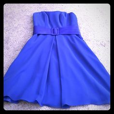 """Beautiful Alfred Angelo dress Beautiful Alfred Angelo dress. In cobalt blue. Was altered to fit me 4'9"""" in height and 95lbs. Worn once. Can't find the size on the dress, but I believe it's a size 2.  📦better discounts with bundles📦 🎀be kind when making offers. Remember posh takes 20% commission on items priced $15 or higher and $2.95 for items priced under that 🎀  🚫PayPal 🚫trades  ❗️items $ 10 & under are firm unless bundled. Alfred Angelo Dresses Prom"""