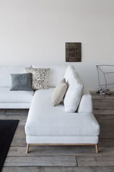 Home furniture, furniture design, furniture styles, sofa design, white couc Home Living Room, Living Spaces, Home Furniture, Furniture Design, Furniture Styles, Sofa Design, Modul Sofa, White Couches, White Sectional