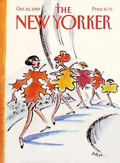 The New Yorker cover for an autumnal fashion week, 1989. #magazine #cover #fashionweek